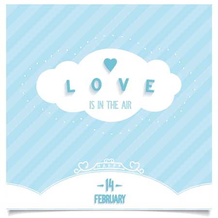Love is everywhere around us is in the air, card Happy Valentine s Day  Vector illustration eps8 Vector