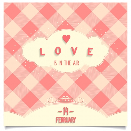 Valentine s Day card Love is everywhere around us is in the air Vector