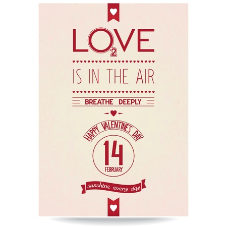 deeply: Love Valentine card design with idea typographic on vintage textured background