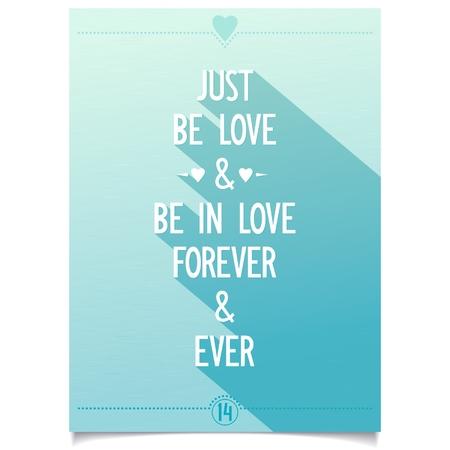 aerate: Luce del sole Happy Valentine s Day cartello con TV lettering disegno stilizzato su sfondo blu del cielo Basta essere amore ed essere in amore, per sempre