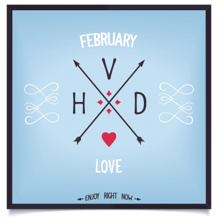 Sign of Valentine s Day, love in February enjoy  Vector print eps8 Vector