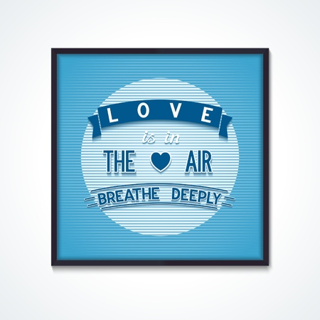 deeply: Poster phrase with volumetric lettering on air background  Vector eps10