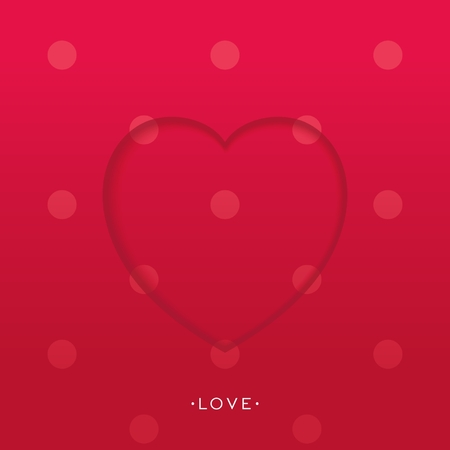 Beautiful heart pattern with 3D effect  Vector background eps10