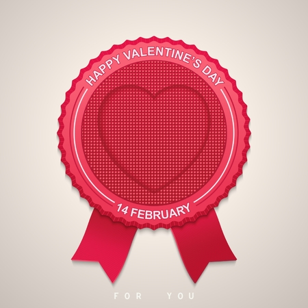 Label with ribbons for Valentine s Day  Vector elements eps10 Vector