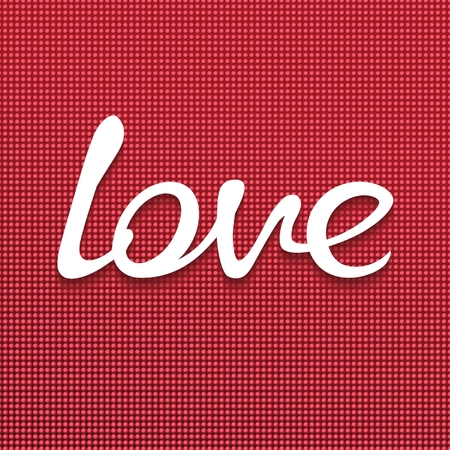 Handwriting word LOVE on textured background  3D vector eps10 Vector