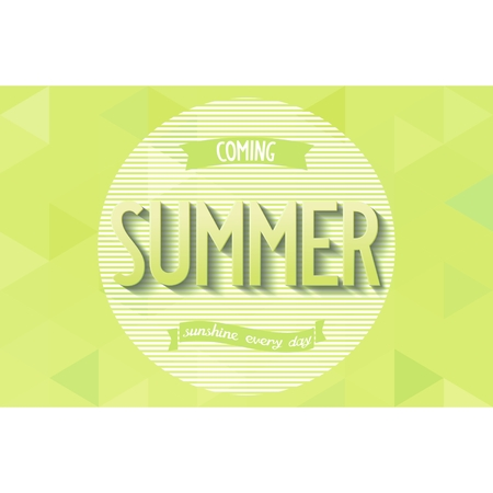 Graphic poster with 3D inscription  Summer  in the minimalist style  Vector eps 10 Vector