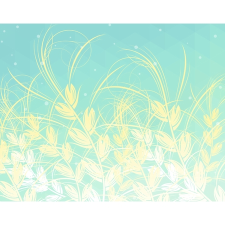 Natural abstract background with ears  Vector illustration Illustration