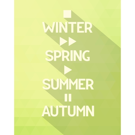 Seasons poster with concept symbols all times of the year  Vector illustration Illustration