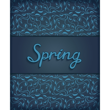 Template design for printing on a spring theme with floral pattern   Vector