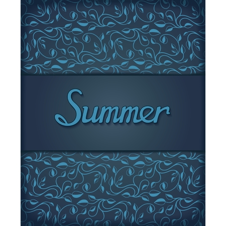 Template design for printing on a summer theme with floral pattern   Vector