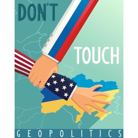 geopolitics: The crisis in Ukraine  Russia stops U S  scenario  Geopolitical war   Illustration