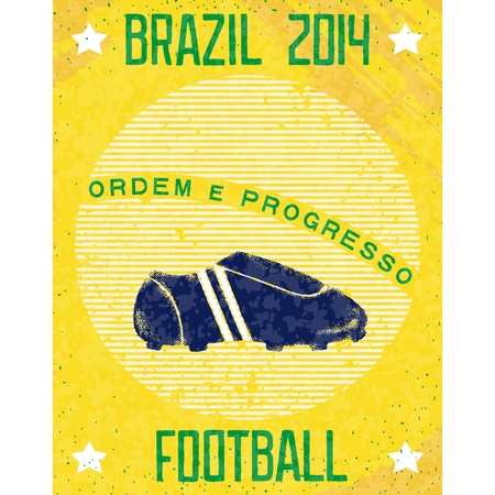 Vintage football playbill on sunshine background with soccer shoes  Vector eps10 Vector