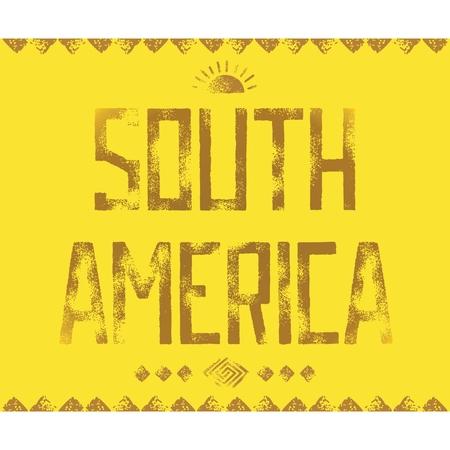arte callejero: Dise�o de letras de la tipograf�a de Grunge con antiguos patrones de los indios americanos. Arte callejero. Vector EPS 10