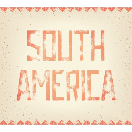 threadbare: Design tipografia Grunge - Sud America, l'antico manoscritto sfondo. Vector eps 8