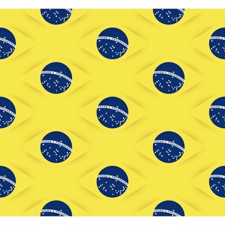 originalidad: Fondo incons�til de la bandera de Brasil con la sombra 3D. Repetici�n de patrones. Vectores