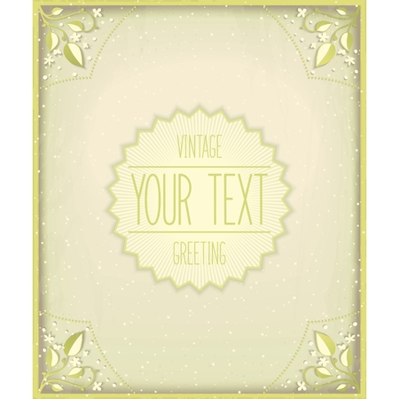 Vintage nature card. Atmospheric effect design.  Vector