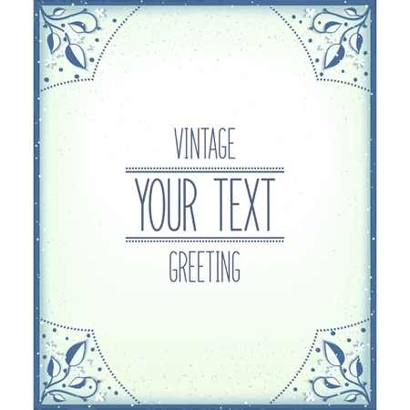 Greeting vintage template.  Vector