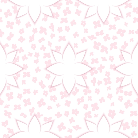 lightweight: Lightweight seamless background of flowers with effect cut paper. Vector eps 10 Illustration