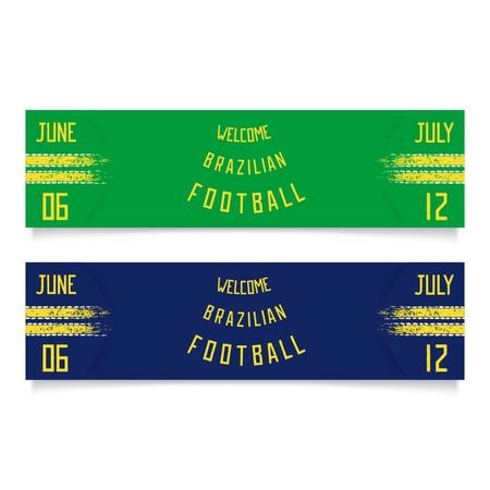 originalidad: Dos banderas de f�tbol el deporte con franjas de carreras y la inscripci�n