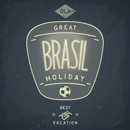 Chalkboard design badge for great Brazil holiday  Vector eps 10 Vector