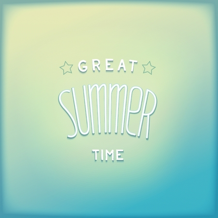 Summer airy blue retro background with 3D lettering