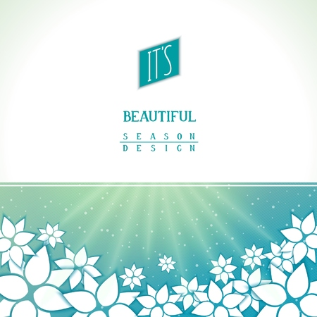 Season background with fantastic floral pattern. Vector eps 10