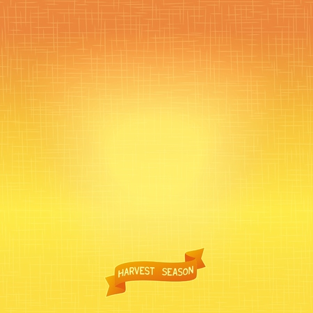 arable: Bright autumn background with texture of stitches and an inscription to the harvest season  Vector eps 10