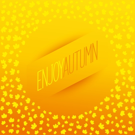 Abstract autumn banner with  leaf fall of maple leaves. Illustration