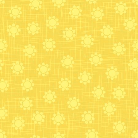 Seamless flower pattern on gunny texture background.