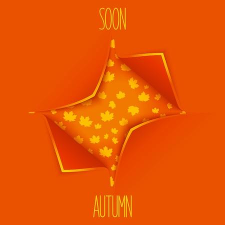 soon: Binnenkort herfst. Stock Illustratie