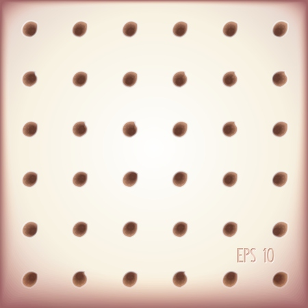 Abstract 3D with holes in rows. Illustration