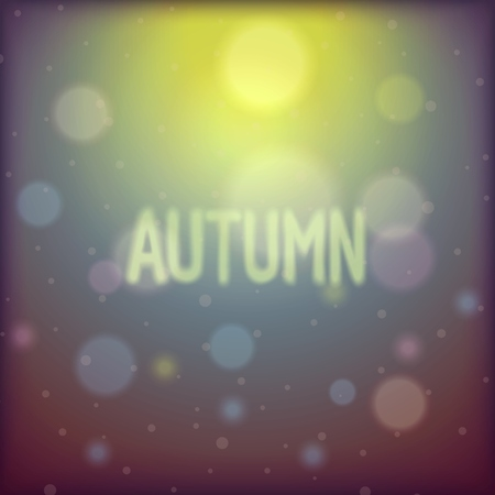 glare: Autumn abstract background with shiny glare away and blurred inscription.  Illustration