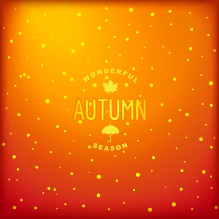 Autumn shiny background with label design.