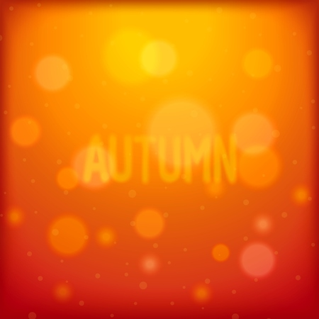 glare: Autumn abstract background with shiny glare away and fuzzy inscription.  Illustration