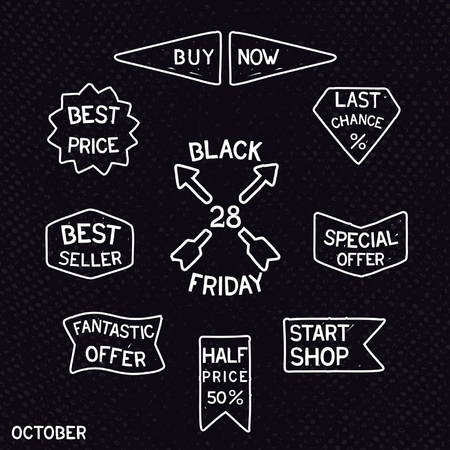 best seller: Vintage Black Friday element design on grunge background. Vector eps 10 Illustration