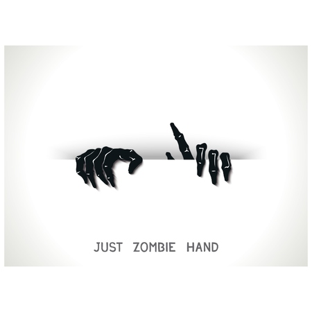 Just web and printing template with 3D zombie hands from the slit.