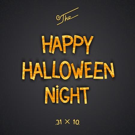 Happy Halloween Night retro 3D poster design. Vector eps 10 Vector
