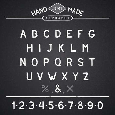 hunchback: Font vintage simple handmade design. Vector eps 8 Illustration