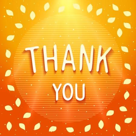 Bright shiny card - THANK YOU. Vector eps 10 Vector