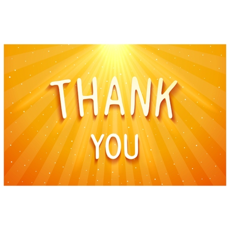 THANK YOU - volumetric bright shiny inscription. Vector eps 10