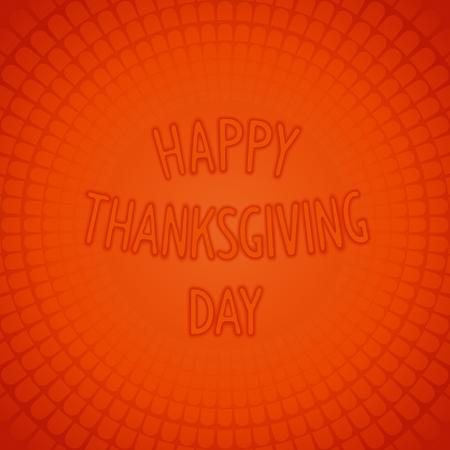 tile background: Happy thanksgiving day - 3D lettering design on fun background. Vector eps 10 Illustration