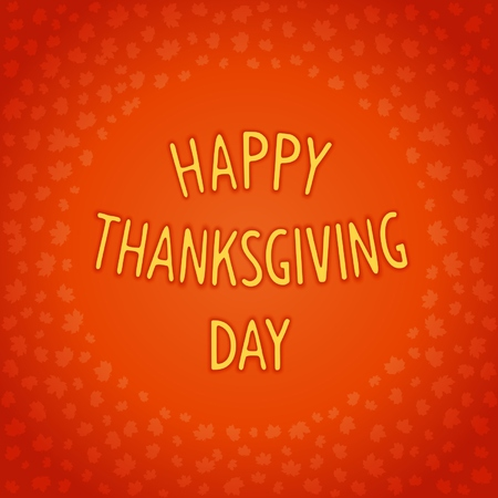convex: Convex lettering design for Thanksgiving day on maple leaves background. Vector eps 10
