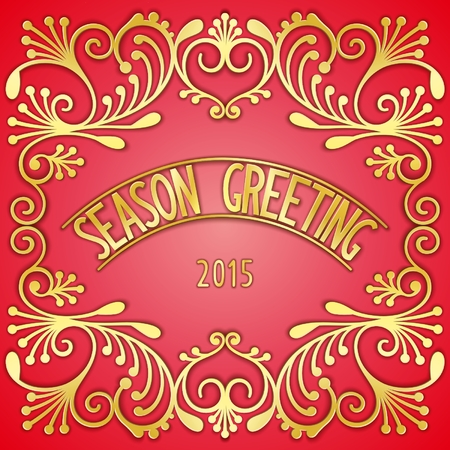 gilding: Luxurious greetings card design with gilding pattern and the signboard. Vector eps 10 Illustration