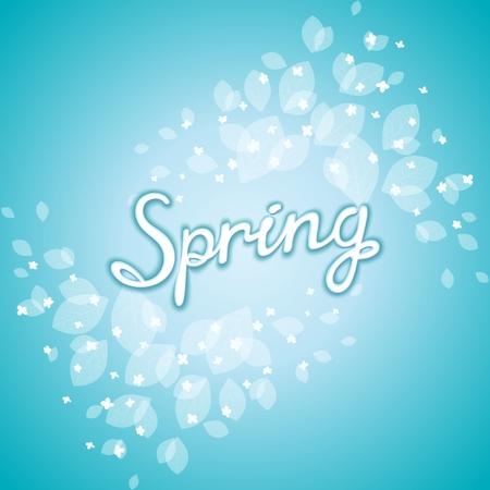 ébredés: Frissítő tavaszi ébredés képeslap virágmintás még téli háttér. Vector EPS 10 Illusztráció