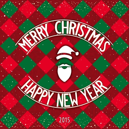 facia: Merry Christmas and Happy New Year lettering design on  traditional background. Vector eps 10
