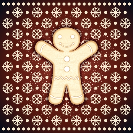 frosting: Christmas biscuits as gingerbread man with frosting. Vector eps 10 Illustration