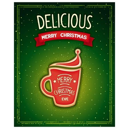 Delicious Merry Christmas Vector
