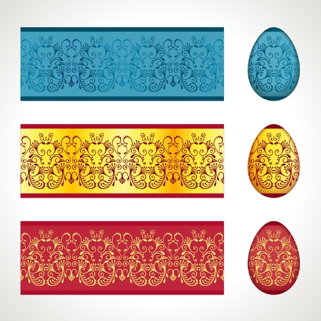 frieze: Decoration for Easter eggs, seamless frieze pattern