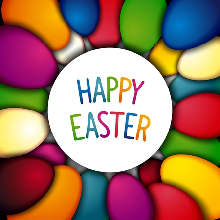 paschal: Happy Easter bright joyful background with colorful paschal egg