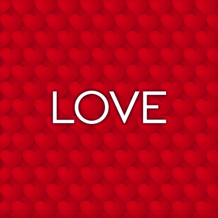 red wallpaper: Just design lettering love on a red background from hearts